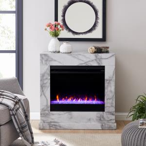 claredale-faux-white-marble-fireplace-wall
