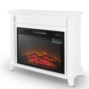 della-furniture-electric-fireplace-white-marble