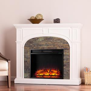 electric-fireplace-white-stone