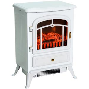 homcom-freestanding-white-led-electric-fireplace
