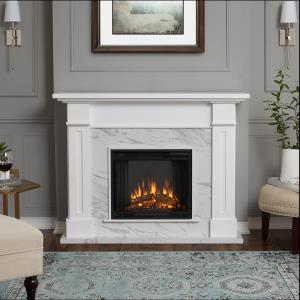 kipling-electric-stone-fireplace-with-white-bookcases