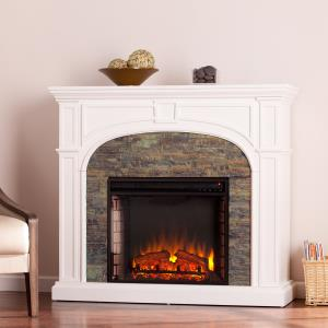 logaic-electric-stone-fireplace-with-white-bookcases