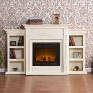 southern-enterprises-stone-fireplace-with-white-bookcases