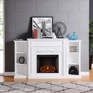 stone-fireplace-with-white-bookcases