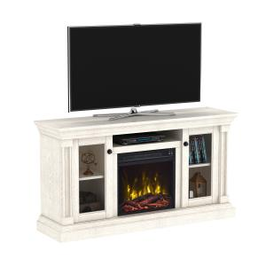 white-entertainment-center-fireplace