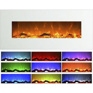 white-led-electric-fireplace